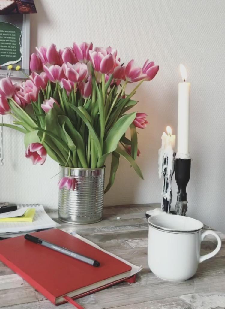 Er tulipanene kortreist når de er kjøpt i Amsterdam mon tro?